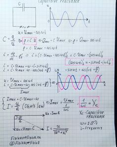 #Capacitive #Reactance Engineering Science, Electronic Engineering, Electrical Engineering, Science And Technology, Engineering Notes, Physics Notes, Physics And Mathematics, Science Notes, Physics Formulas