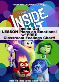 Inside Out Lesson Plans & Classroom Feelings Chart!  Activities and Ideas for Students!