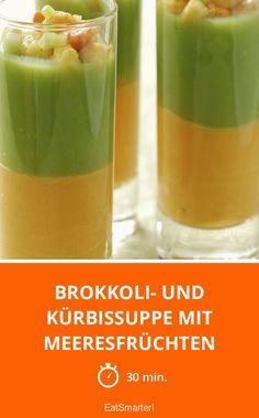 Brokkoli- und Kürbissuppe mit Meeresfrüchten - smarter - Zeit: 30 Min. | eatsmarter.de