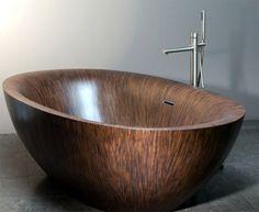 badewanne holz freistehende wanne badewannen freistehend badezimmer pinterest. Black Bedroom Furniture Sets. Home Design Ideas