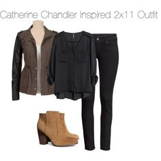 Catherine Chandler Inspired 2x11 Outfit by staystronng on Polyvore featuring H&M, BATB, 2x11 and catchandler