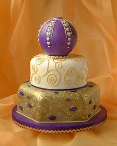 Image detail for -Purple Wedding Cakes Designs - Yahoo! Voices - voices.yahoo.com