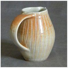 Porcelain Jug by Susanne Lkacs-Ringel [Germany] - anagama-fired
