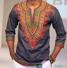 Dashiki African Cotton Male Top van AFRICANISEDSHOP op Etsy