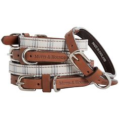 Mist Ticking Dog Collar from Mutts & Hound.  Honestly, everything on this website is beyond stunning.