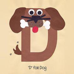 Alphabet Art Template - Upper D (Dog)