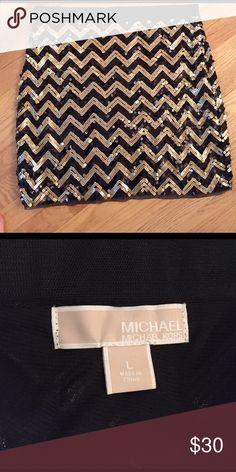 Michael kors skirt Sequin chevron skirt. Elastic waistband, clasps on side. MICHAEL Michael Kors Skirts