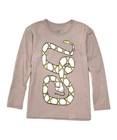 Take a look at this Taupe Snake Organic Tee - Toddler & Boys by Soft Clothing on #zulily today!