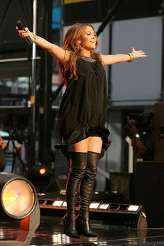 Jennifer Lopez in Thigh Boots