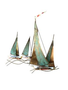 Metal Sailboat Wall Art signed c. jere sailboat wall sculpture | wall sculptures, modern