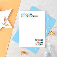 Funny Birthday Card | Happy Birthday Friend | Birthday Cake Card | For Him | For Her | Simple Birthday Card Friend | Blank | SE0288A6