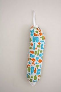 grocery bag holder. I've been meaning to make one of these forever!
