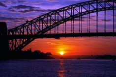 Colourful purple sunrise in Sydney, Australia