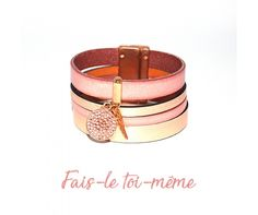 Bracelet manchette rose gold et Swarovski