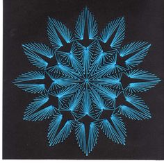 Black and blue stitching card/Made By Sheilah Roper