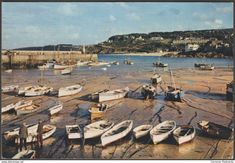 Harbour Boats, St Ives, Cornwall, 1961 - J Arthur Dixon Postcard