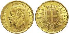 NumisBids: Numismatica Varesi s.a.s. Auction 65, Lot 653 : SAVOIA - VITTORIO EMANUELE II (1861-1878) 20 Lire 1874 Roma. MIR...