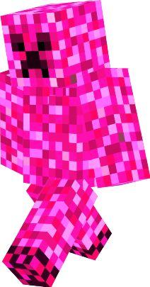 Minecraft skin for Girls Pink Creeper