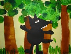 Le loup en arts visuels Fairy Tale Crafts, Fairy Tale Activities, Traditional Tales, Classic Fairy Tales, Bird Theme, Three Little Pigs, Fairytale Art, Creative Activities, Red Riding Hood