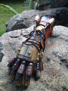 Steampunk Equalist Glove arm armor by SkinzNhydez on Etsy Steampunk Gloves, Steampunk Accessoires, Steampunk Costume, Steampunk Fashion, Asami Sato, Runaways Marvel, Avatar Series, Interactive Stories, Arm Armor