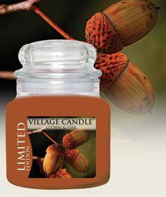 Acorn & Oak Limited Edition-Premium Round-NEW! - Oak, amber, acorn and vanilla bean Village Candle