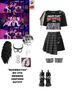 Korean Outfits Kpop, Kpop Fashion Outfits, Ulzzang Fashion, Stage Outfits, Dance Outfits, Cute Teen Outfits, Girl Outfits, K Pop, Pink Fashion