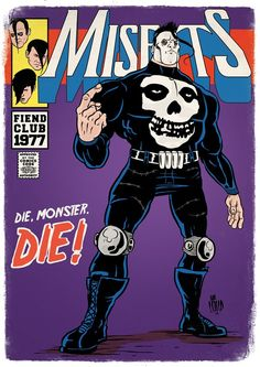 What if all the great American punk heroes had their own classic comic book titles? Rock Posters, Band Posters, Concert Posters, Music Posters, Punk Art, Punk Rock, Misfits Band, Punk Tattoo, Punk Poster