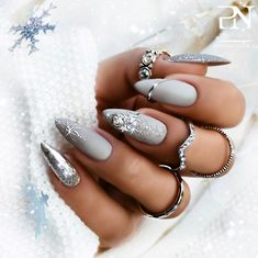 The Best Gray Nail Art Design Ideas The Best Gray Nail Art Design Ideas,Nageldesign Related posts:Best Nail Art 2019 To Try Now - - Nail Chic Winter Nail Designs For. Gorgeous Nails, Pretty Nails, Beautiful Gorgeous, Nagellack Design, Gray Nails, New Year's Nails, Nail Swag, Nagel Gel, Best Acrylic Nails