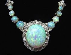 late 1800's opal and diamond