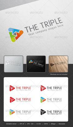 The Triple  Logo Design Template Vector #logotype Download it here: http://graphicriver.net/item/the-triple-logo/5306931?s_rank=89?ref=nesto