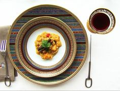 Mango curry by Elisabeth Thiry.  Hermès Cheval d'Orient service.