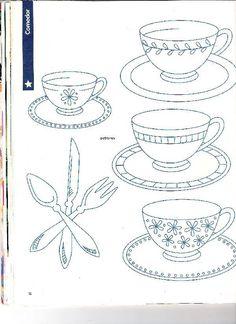 dibujos para bordar manteleria