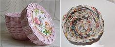 DIY Wicker Basket Using Newspaper