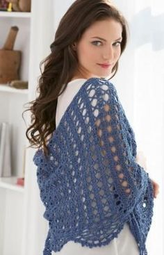Quick Weekend Shawl By Tammy Hildebrand - Free Crochet Pattern - (redheart)