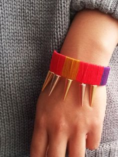 Studs, threads and everything. This summers bracelet