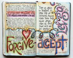 visual blessings: Processing Hurt in my Moleskine Journal  Using art journaling with trauma patients for therapy.