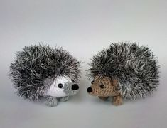 """This is the combo pack of my two """"big"""" hedgehog patterns (http://www.loveknitting.com/curious-hedgehog and http://www.loveknitting.com/shy-hedgehog) If you also want to make some babies to complete the family, you will find the free pattern at http://www.ravelry.com/patterns/library/baby-hedgehogs - have fun with the hedgehogs! :)"""