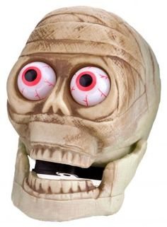 Send you party guests running for cover when they see this eerie mummy with bulging flashing eyes! Requires 2 x AAA batteries (not included). This is a halloween decoration, not a toy. Halloween Goodies, Halloween 2013, Halloween Items, Halloween Party Decor, Spooky Halloween, Halloween Design, Creepy Costumes, Halloween Celebration, Party Guests