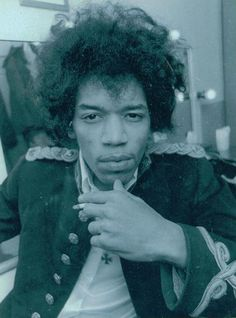 Jimi Hendrix...image originally posted by Kathy Etchingham (Jimi's former girlfriend). Visit her website for more never-before-seen images of Jimi and the whole 60's music scene at: http://www.kathyetchingham.com/