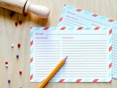 Airmail Recipe Cards  http://presentandcorrect.com/item.php?item_id=1214=2_id=3#