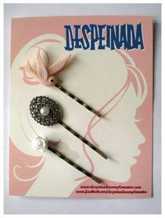 LITTLE BIRD ROSA SET - Despeinada Sweet Romantic Hair Pins