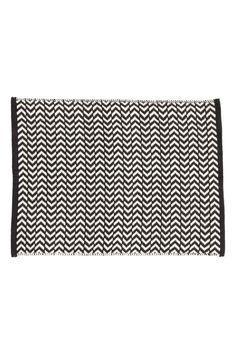 Fürdőszobaszőnyeg - Fekete/fehér mintás - HOME   H&M HU 1