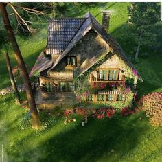 Cottage Core Aesthetic cottage life one day me n my gf are gonna live in a place like this Cottage In The Woods, Cozy Cottage, Cottage Homes, Garden Cottage, Cute House, My House, Casas The Sims 4, Fairytale Cottage, House Goals