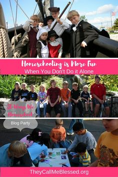 Homeschooling is More Fun When You Don't Do it Alone | They Call Me Blessed
