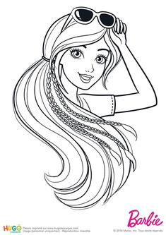 Barbie Fashionistas, lunettes de soleil Barbie Coloring Pages, Coloring Book Art, Cute Coloring Pages, Disney Coloring Pages, Printable Coloring Pages, Adult Coloring Pages, Barbie Colouring, Barbie Painting, Barbie Drawing