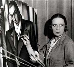 """Tamara de Lempicka Lempicka (Łempicka) (16 May 1898 – 18 March 1980), born Maria Górska, was a Polish Art Deco painter and """"the first woman artist to be a glamour star"""". Famous for her libido, she was bisexual, and her affairs with both men and women were carried out in ways that were scandalous at the time. She often used formal and narrative elements in her portraits and nude studies to produce overpowering effects of desire and seduction."""