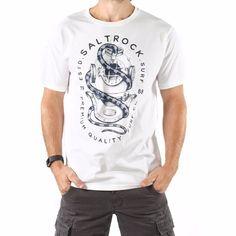 314e985ed5ca Dive - Men's Saltrock T-shirt - White Dove Men, Summer Design, Surf