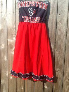Custom houston Texans tshirt dress