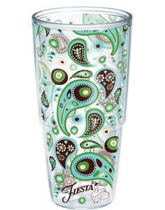 Adorable Tervis tumbler. I love paisley and this color scheme.