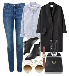 """""""Untitled #6162"""" by rachellouisewilliamson on Polyvore featuring Topshop, Frank & Eileen, ALDO, Cédric Charlier, Acne Studios, J.Crew, WithChic and Ray-Ban"""